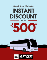 Bus Ticket Booking Discount Offer Flyer template