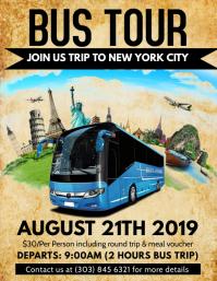 1040 customizable design templates for travel postermywall bus tour flyer maxwellsz