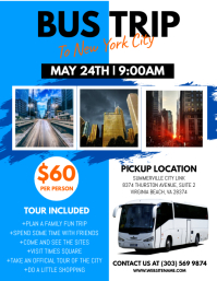 Customizable design templates for bus trip postermywall bus trip flyer pronofoot35fo Choice Image