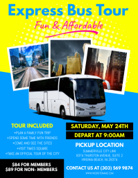 Customizable design templates for bus ride postermywall bus trip flyer pronofoot35fo Choice Image