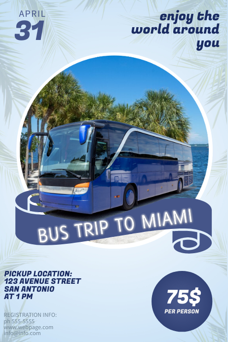 Bus Trip flyer Template