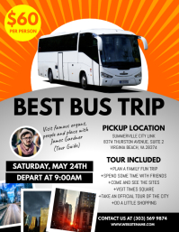 Bus Trip Flyer Volantino (US Letter) template