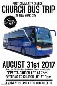 bus trip flyer templates free