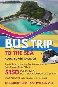 Bus Trip Poster Video Template