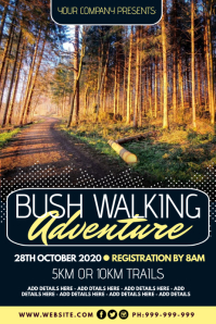 Bush Walking Adventure Poster Affiche template