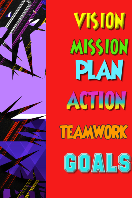 Business Action Goal Plan Project Flyer Poster Customize Template