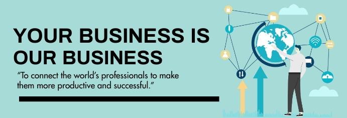 Business, corporate, event แบนเนอร์ LinkedIn template
