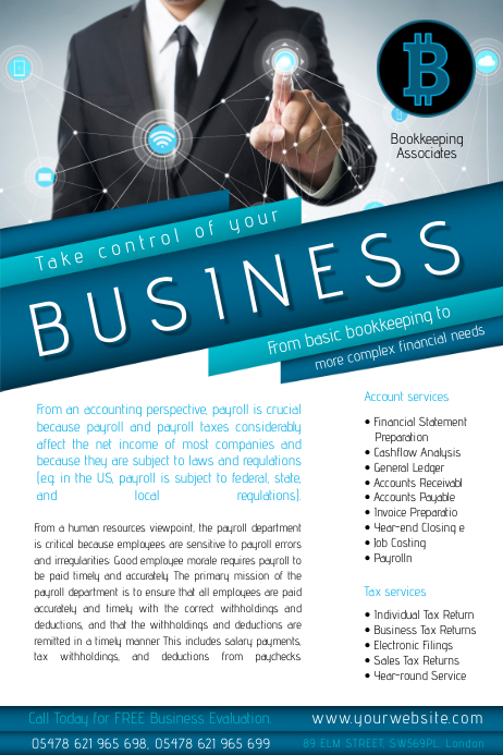 Business Accountants Flyer Template | PosterMyWall