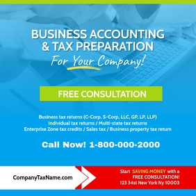 BUSINESS ACCOUNTING & TAX PREPARATION Instagram Post template