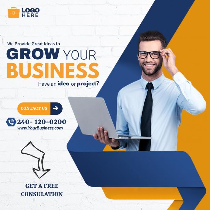 Business Ads Сообщение Instagram template