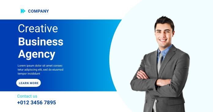 Business Agency Banner Template Image partagée Facebook