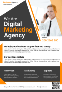 Business Agency Flyer Poster template