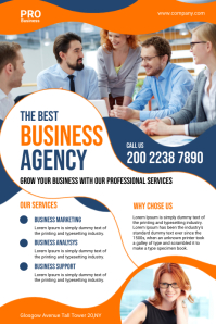 Business Agency Flyer Póster template
