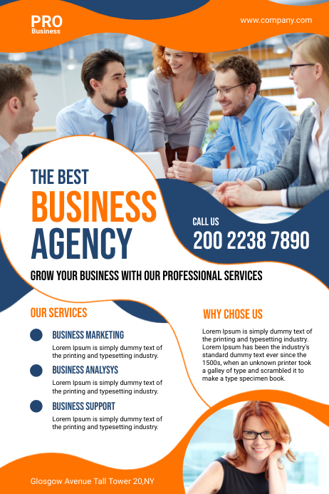 Business Agency Flyer Plakat template