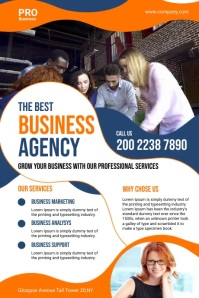 Business Agency Flyer Cartaz template
