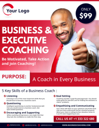 Business and executive coaching flyer template