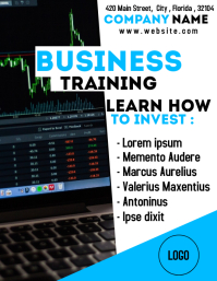 Business and finance investing flyer school t