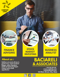 Business and finance investing flyer template