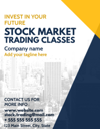 business and investing services flyer
