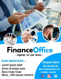 Business and tax office flyer