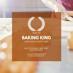 Business Baking cooking Video Instagram template