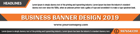 Business Banner Template Design Bannier 2' × 8'