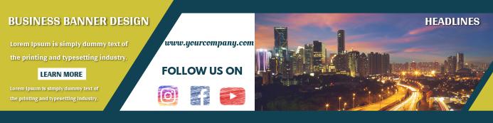 Business Banner Template Design Bannier 2' × 8'