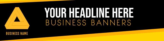 Business BANNER template Bannier 2' × 8'