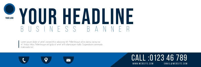 BUSINESS BANNER TEMPLATE Bannier 2' × 6'
