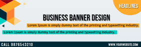 Business Banner Template Spanduk 2' × 6'