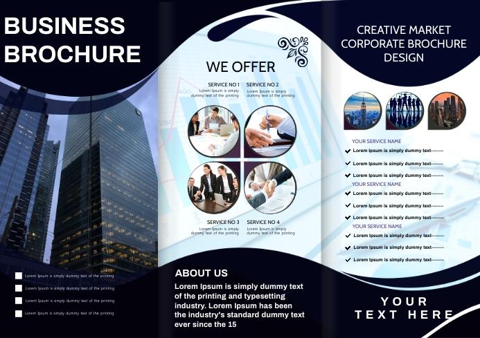 business brochure A4 template
