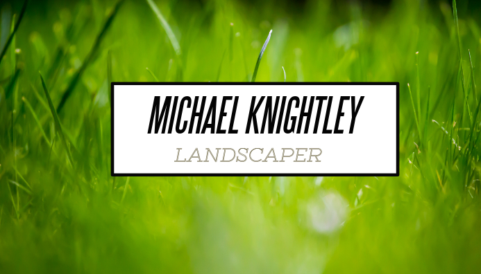 Business Card - Landscaper