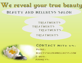 Beauty and wellness spa flyer