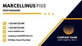 Business card blue and orange design template