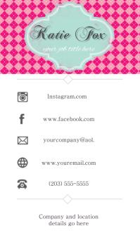 Business Card Communication Pink Facebook Instagram