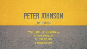 Business card contractor template