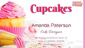 Business Card cupcake นามบัตร template