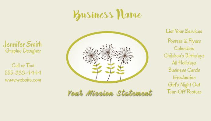 Business Card Dandelions
