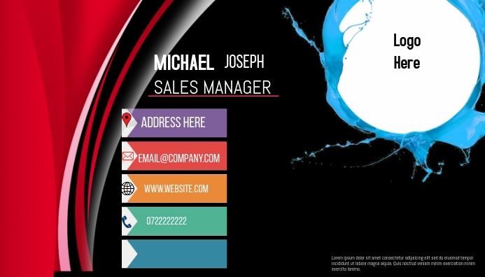 business card Cartão de visita template