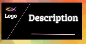 Business card auf Facebook geteiltes Bild template