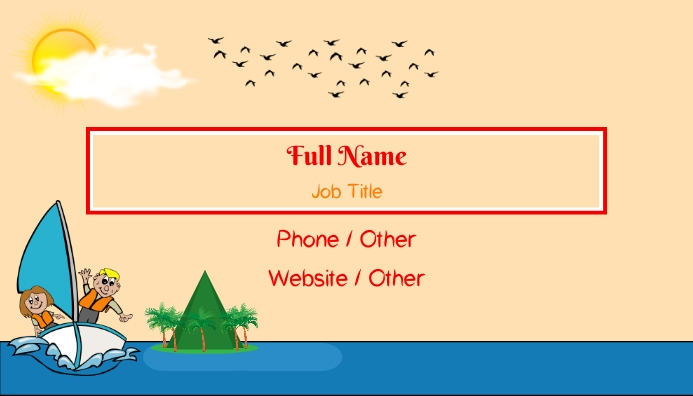 Island Business Card template