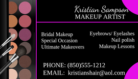 Makeup artist business card template royalty free vector.