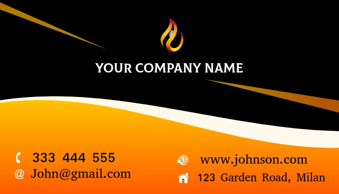 Business card Ikhadi Lebhizinisi template