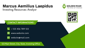 business card design template green and blue