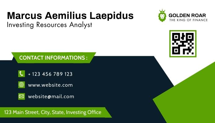 business card design template green and blue Visitkort