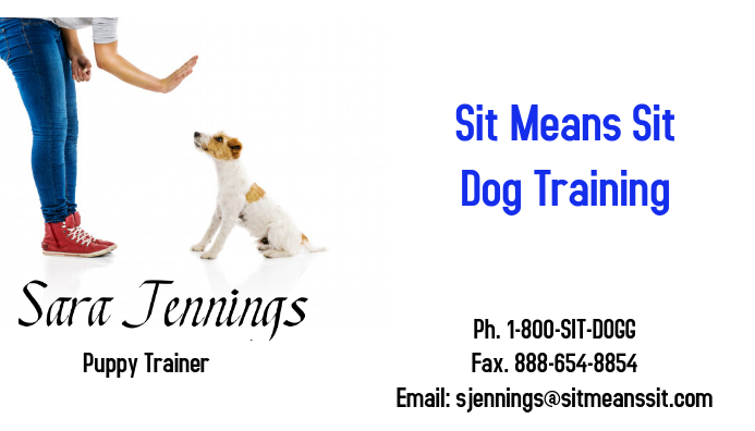 business card dog trainer