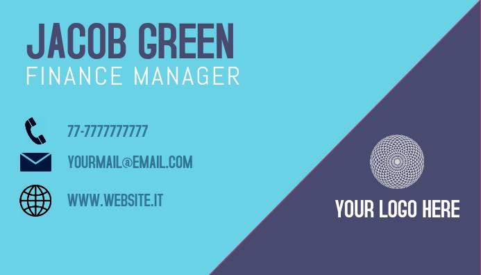 Business Card Finance Manager Visitkort template