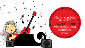 Business Card for Music Musician