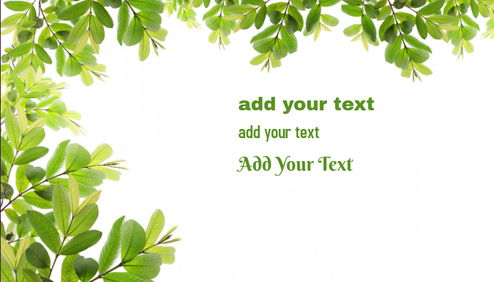 Business card Green Leaves
