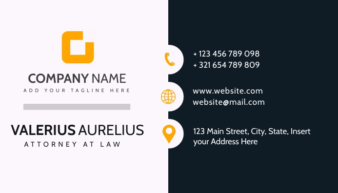 Business card grey and dark blue colors Visitkort template